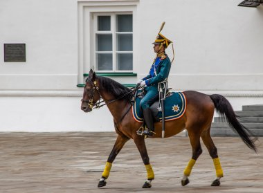 Kremlin regiment on horseback