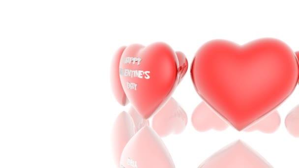 srdce s nápisem happy valentine den