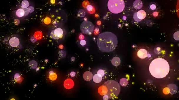 abstraktní barevné kruhy na černém pozadí
