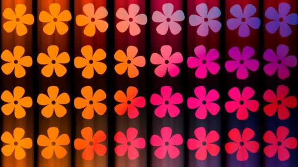 abstraktní květy v různých barvách