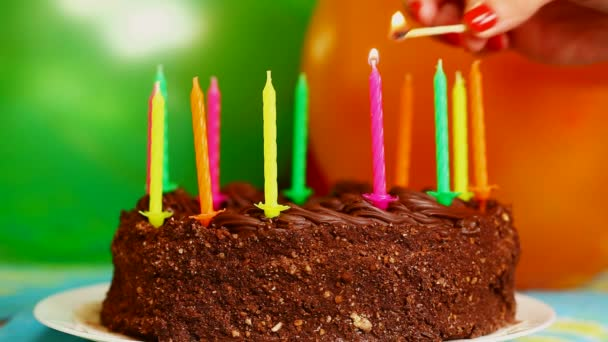 Candles On The Birthday Cake Episode 2 Stock Footage