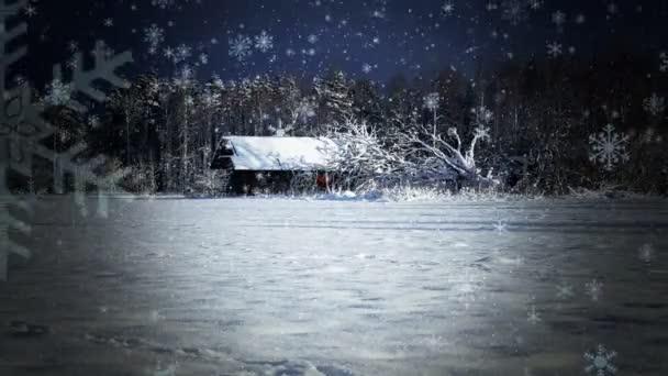 Zimní krajina na hřišti