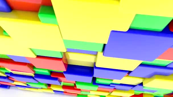 Abstract colored squares