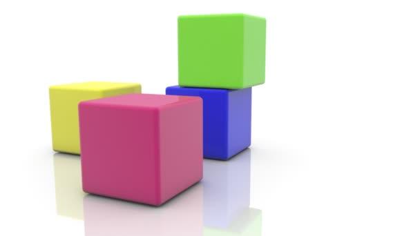 kostky v různých barvách