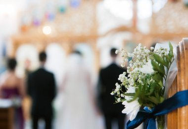 Beautiful white wedding bouquet stock vector