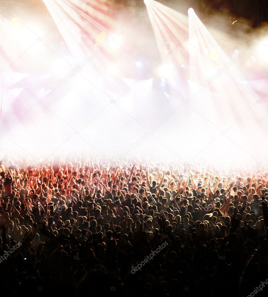 Crowd at concert