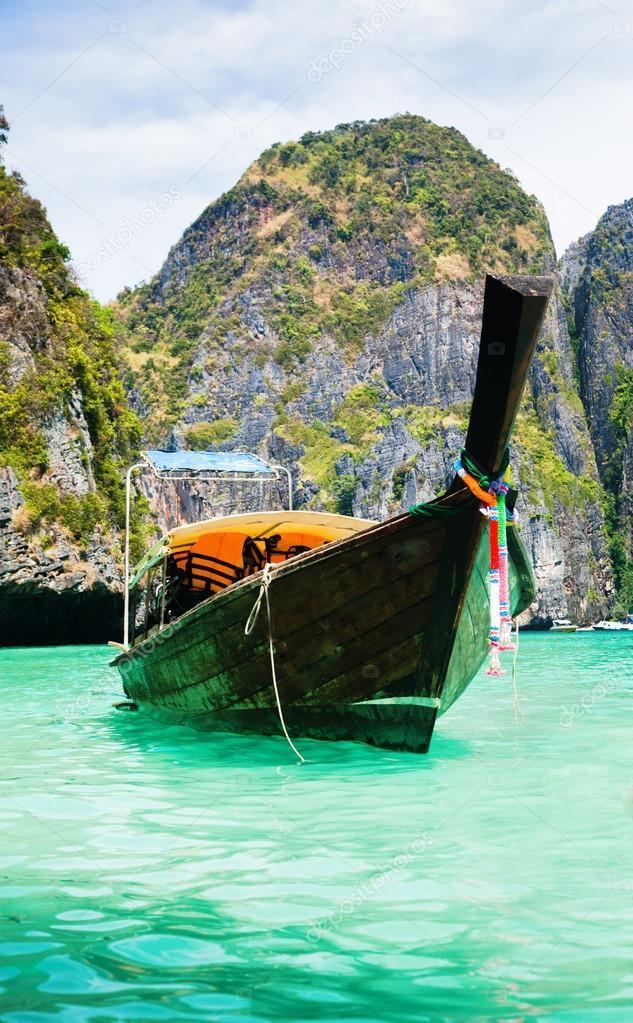 Traditional ship in Maya Bay
