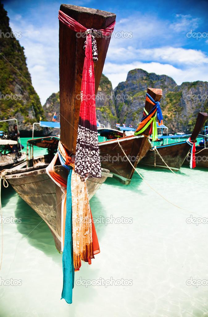 Traditional ships in Maya Bay