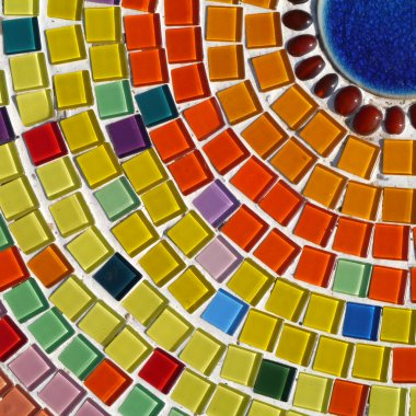 glass mosaic.