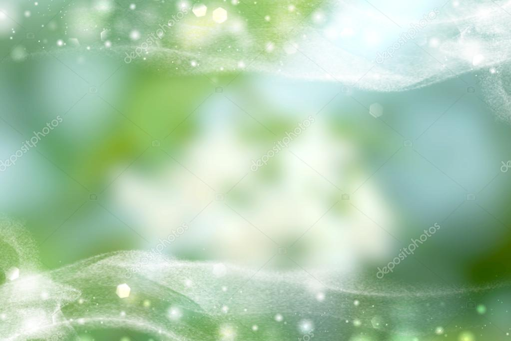 Abstract natural green light background.