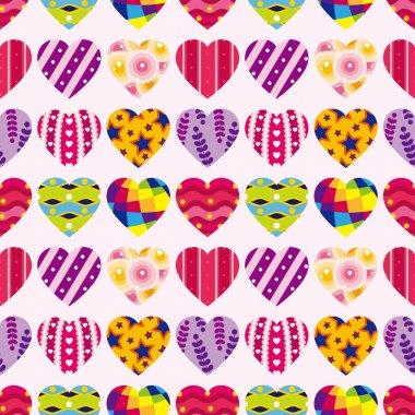 Seamless heart pattern clip art vector