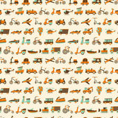 Photo seamless retro transport pattern