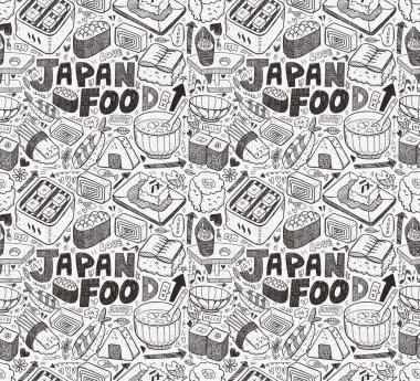 seamless Japanese sushi pattern