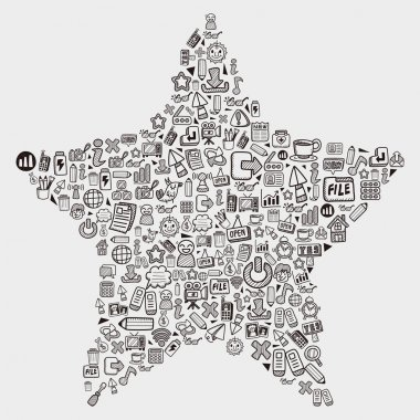 Web doodle pattern - star