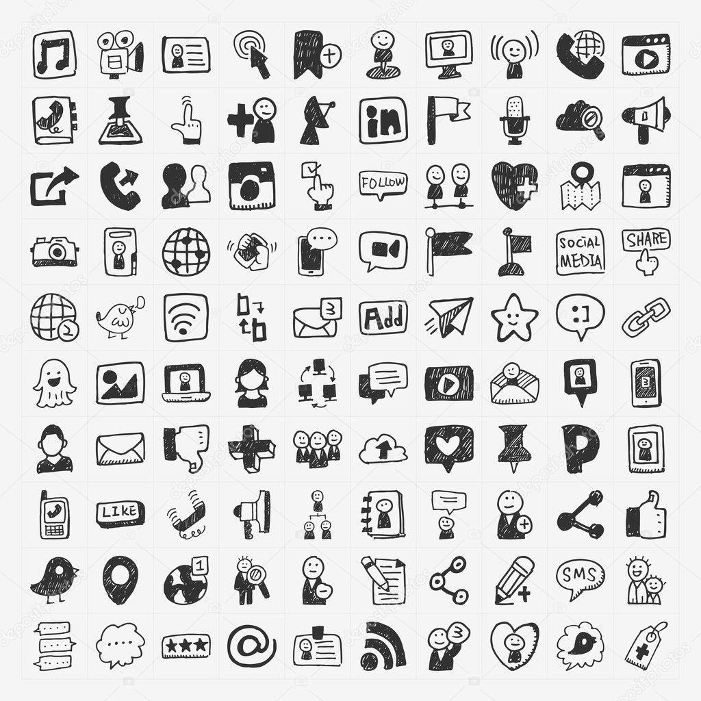 doodle Social media elements