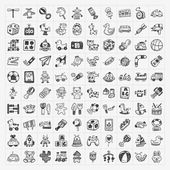 Photo doodle toy icons
