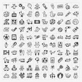 Doodle hračka ikony