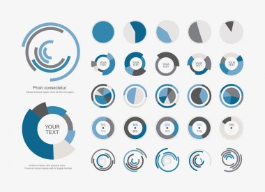 Pie chart icons