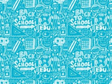 Back to school seamless pattern
