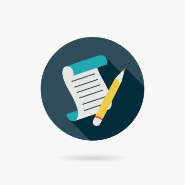 Document Flat long shadow icon