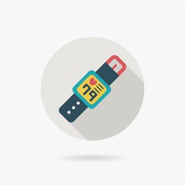 Health Smart watch flat icon