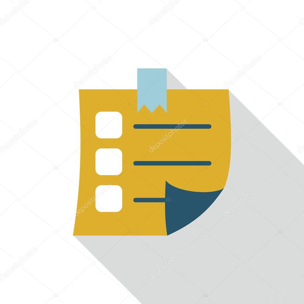 Sticky Note flat icon