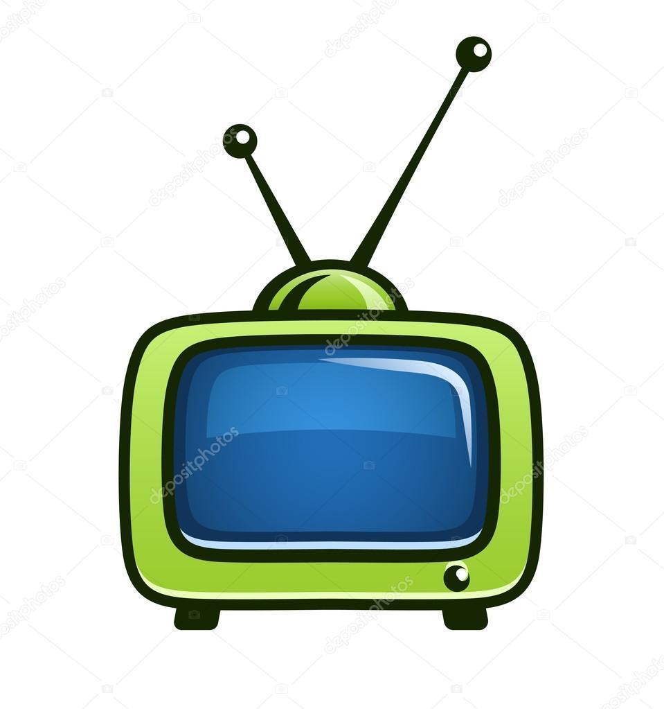 23ec5aa963 vendimia tv set vector clipart — Archivo Imágenes Vectoriales ...