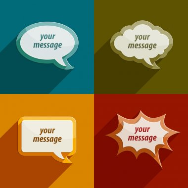 speech bubble clouds kit for messages