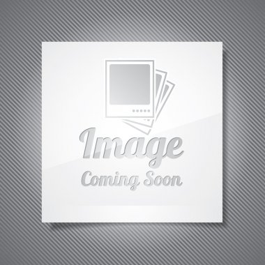 Coming Soon illustration with abstract picture frame on grey background. Vector eps 10.