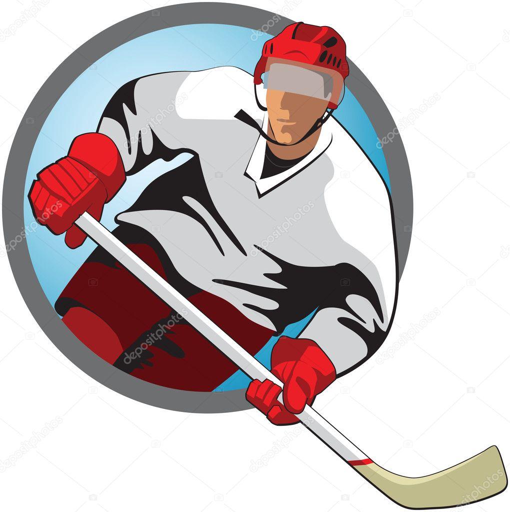 jugador de hockey — Vector de stock © nonmim #13386951