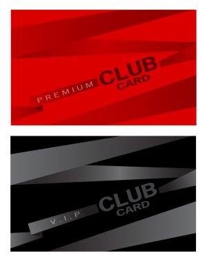 Club plastic card design