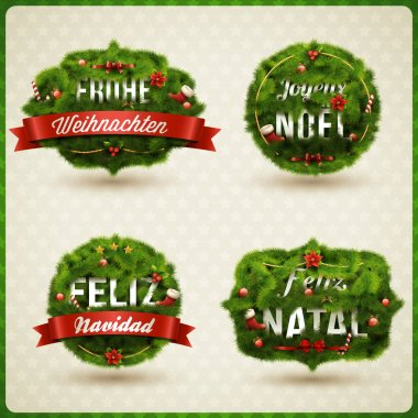 Christmas Label different languages