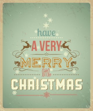 Typography Christmas Greeting Card. Have a Very Merry Christmas.