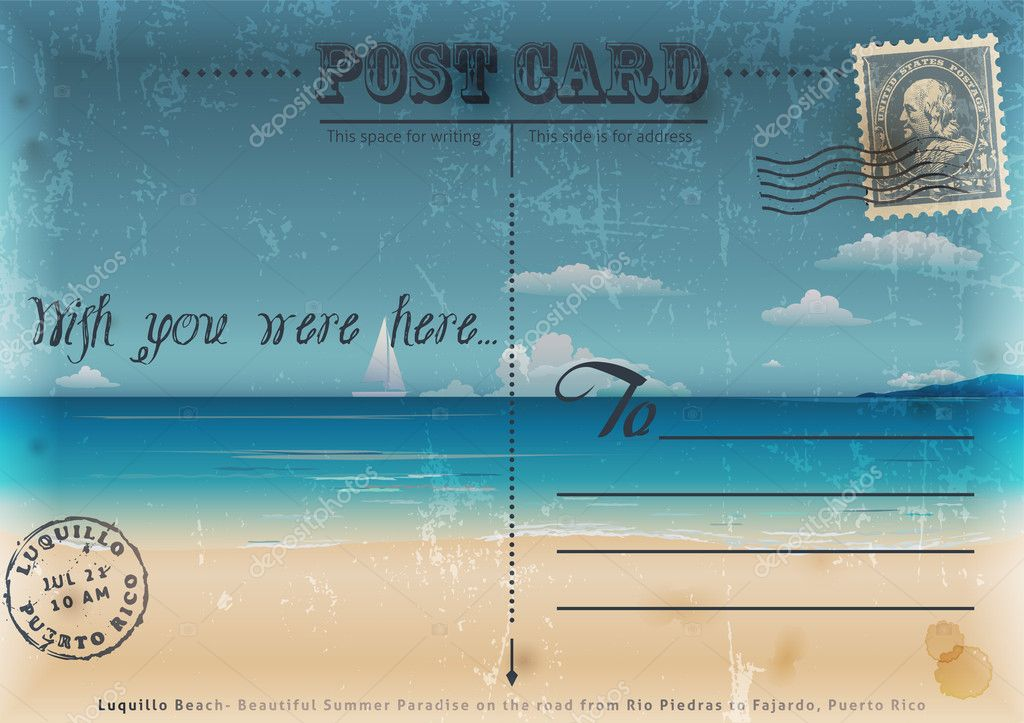 Vintage summer postcard.