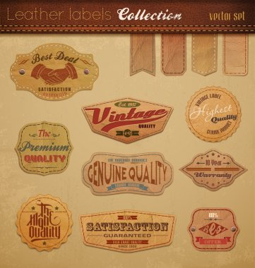 Leather Labels Collection.