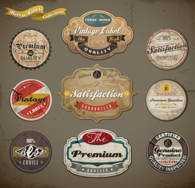 Retro Badges and Labels set