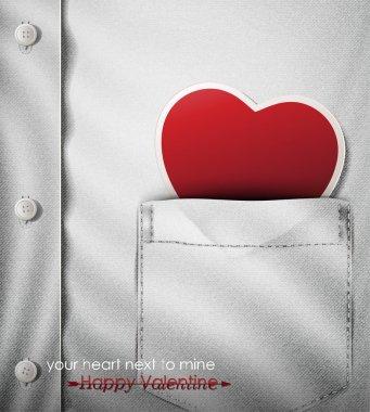 Your heart next to mine- Happy Valentine.