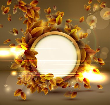 Shiny sensual autumn background with lights.