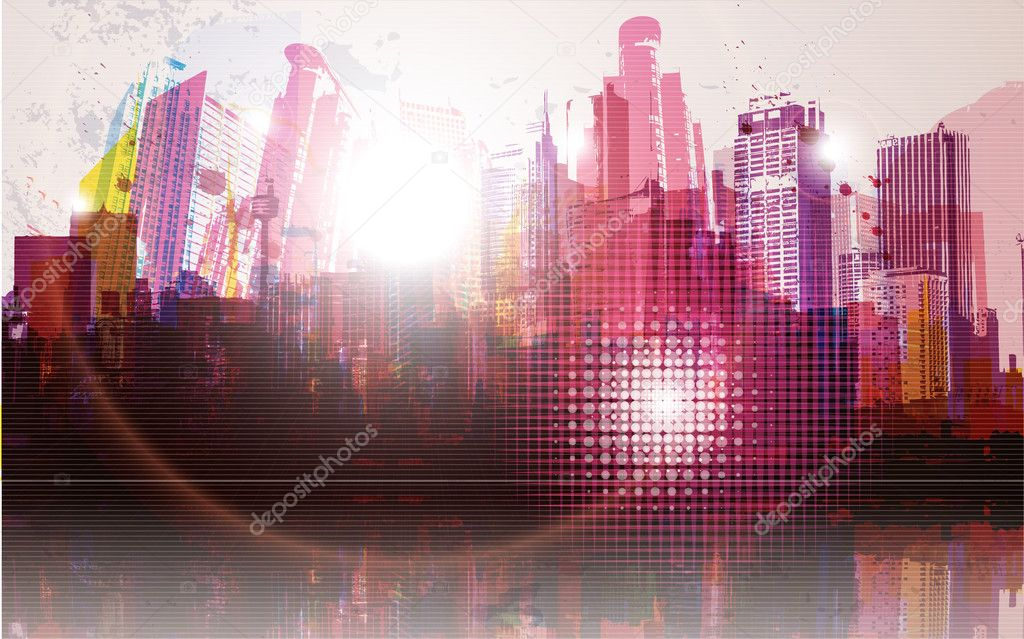 Vector Illustration of Cityscape