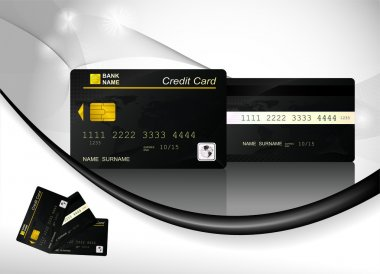 Black Credit Card, front and back view