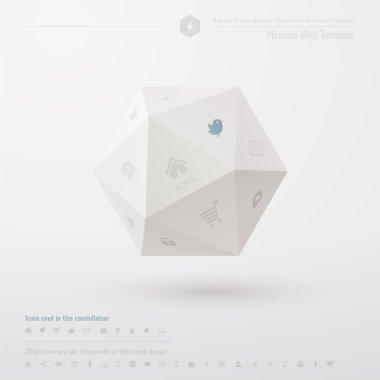 Geometric minimal web template