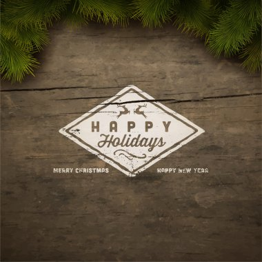Happy holidays sign background