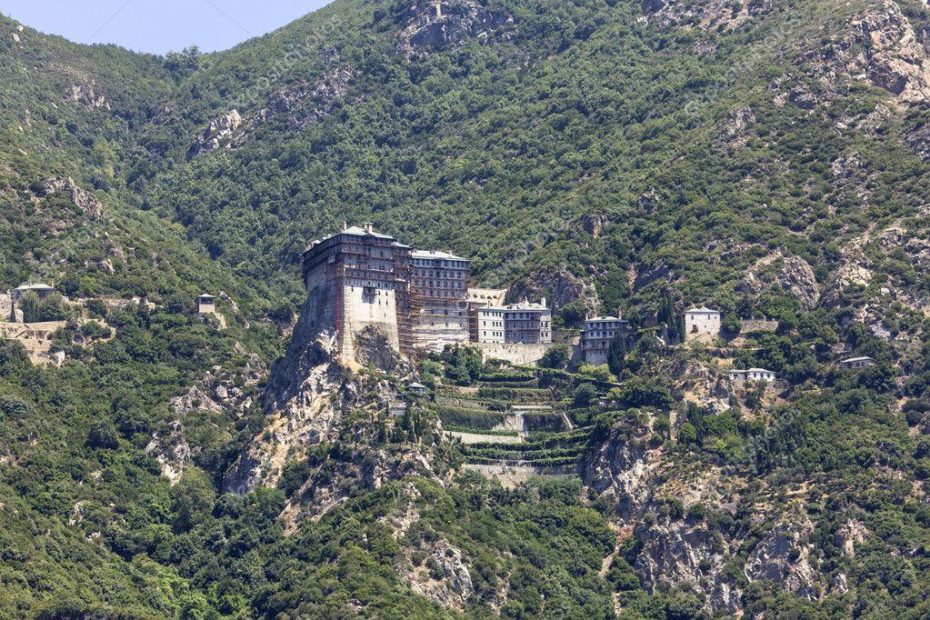 ギリシャの mounth アトス山の修道院 ストック写真 vladislavgajic