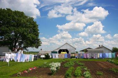 Amish farm and laundry