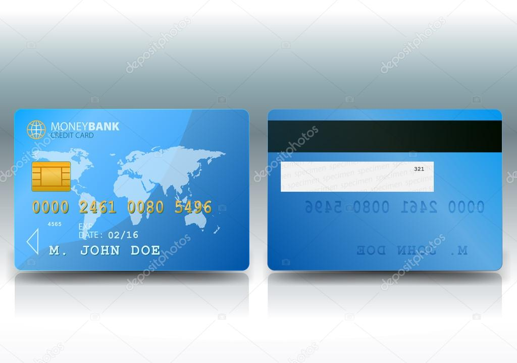 Credit Card Sample — Stock Vector © benchyb #12636024