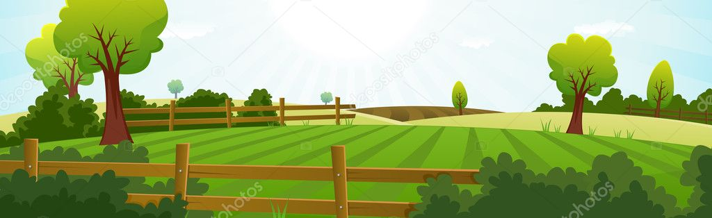 Agriculture And Farming Summer Landscape