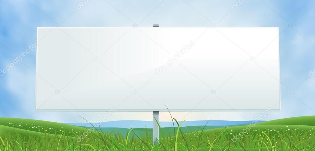 Spring Or Summer Wide White Billboard