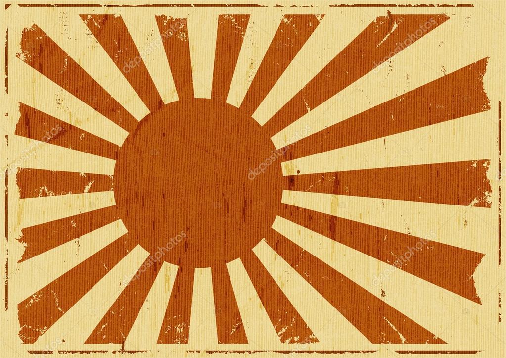 Фотообои Vintage Japan Flag Landscape Background