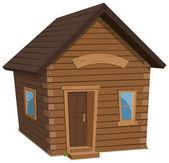 Fotografia lifestyle di casa in legno
