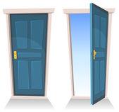 Fotografie Türen, geschlossenen und offenen